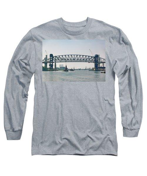 Long Sleeve T-Shirt featuring the photograph Arthur Kill The Four Tugs by Steven Richman