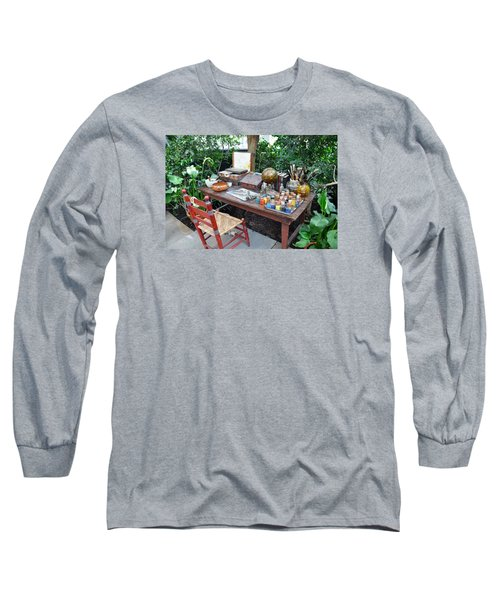 Frida Kahlo's Desk And Chair Long Sleeve T-Shirt