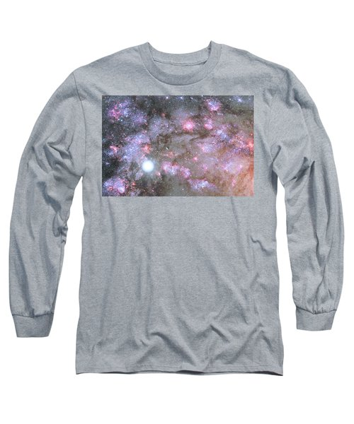Long Sleeve T-Shirt featuring the digital art Artist's View Of A Dense Galaxy Core Forming by Nasa
