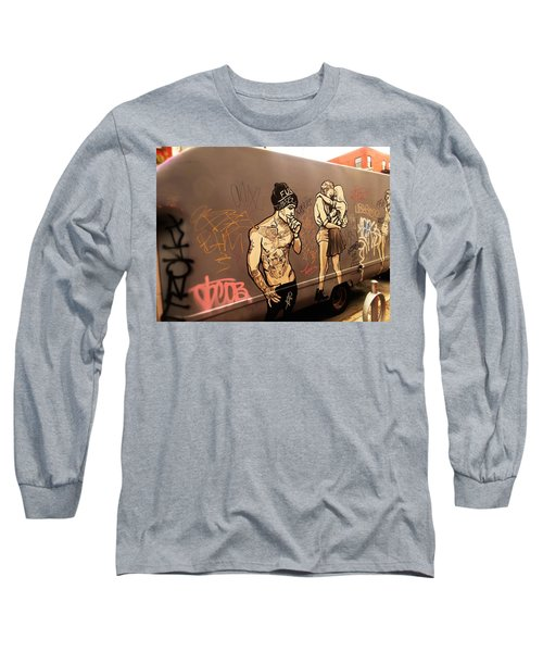 Artsy Love Scenes On New York Truck Long Sleeve T-Shirt