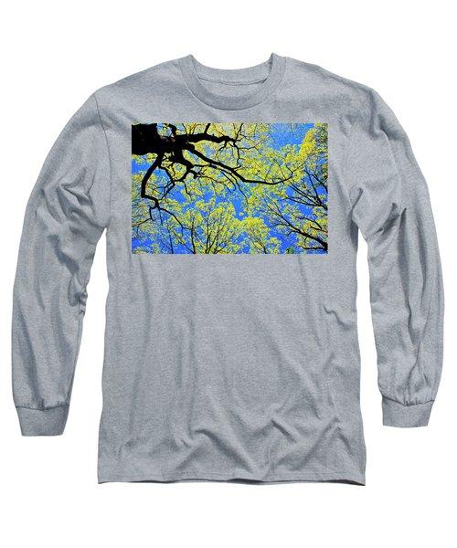 Artsy Tree Canopy Series, Early Spring - # 03 Long Sleeve T-Shirt