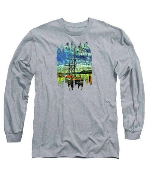 Long Sleeve T-Shirt featuring the photograph Cape Foulweather Tall Ship by Thom Zehrfeld