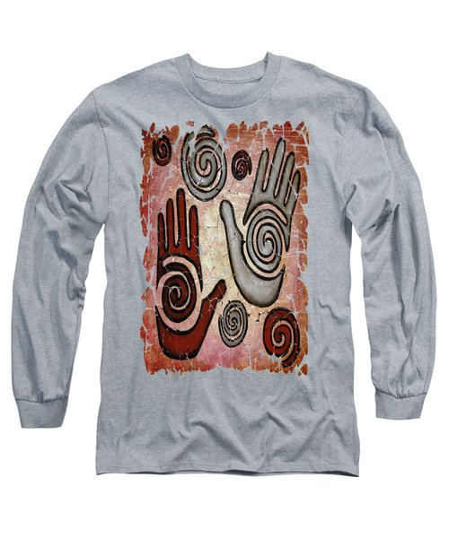 Healing Hands Fresco  Long Sleeve T-Shirt