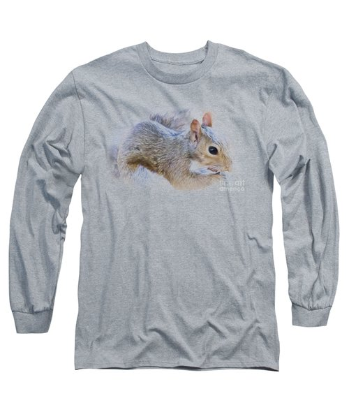 Another Peanut Please - Squirrel - Nature Long Sleeve T-Shirt by Barry Jones