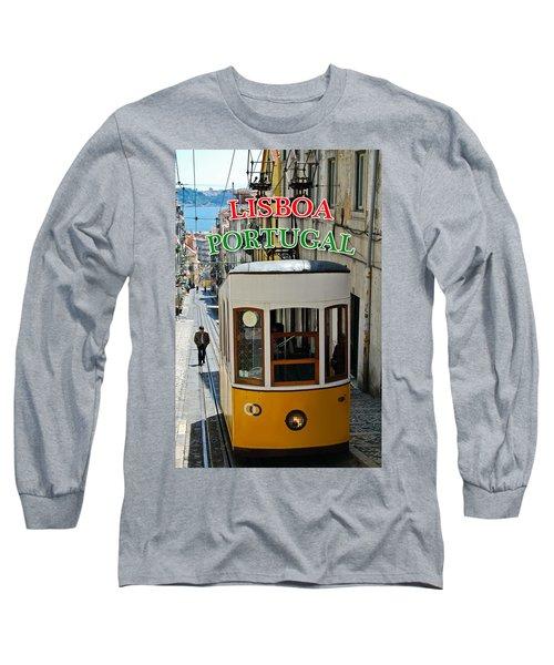 Lisbon - Portugal - Elevador Da Bica Long Sleeve T-Shirt