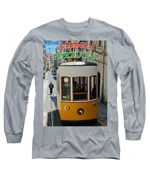 Lisbon - Portugal - Elevador Da Bica Long Sleeve T-Shirt