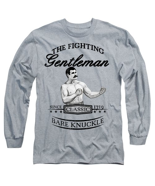 Long Sleeve T-Shirt featuring the drawing The Fighting Gentlemen by Nicklas Gustafsson