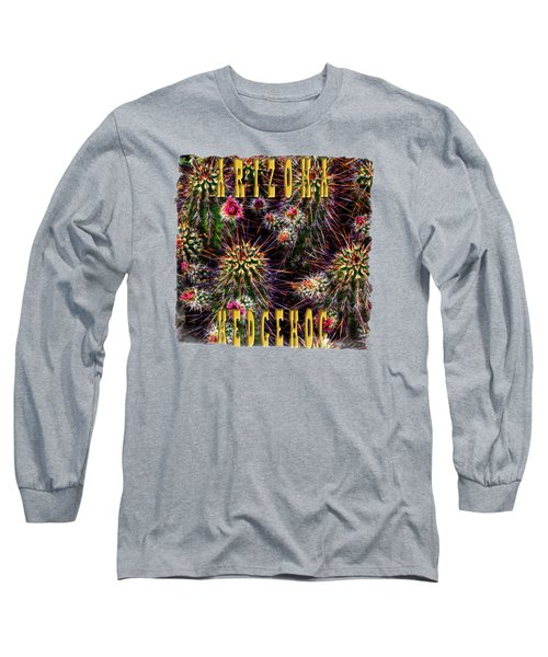 Hedgehog Cactus In Bloom Long Sleeve T-Shirt