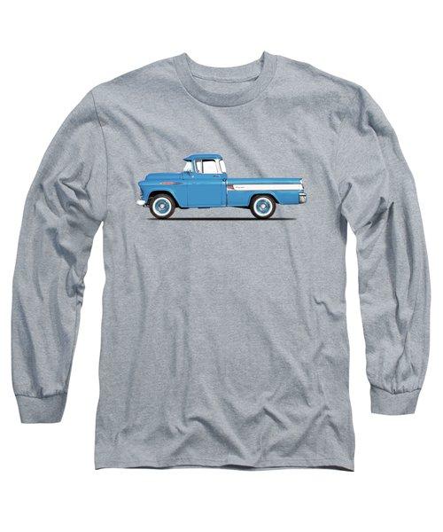 Cameo Pickup 1957 Long Sleeve T-Shirt by Mark Rogan