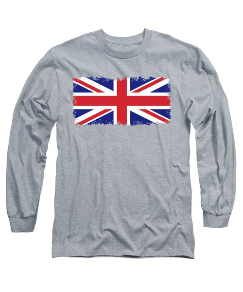 Long Sleeve T-Shirt featuring the digital art Union Jack Ensign Flag 1x2 Scale by Bruce Stanfield