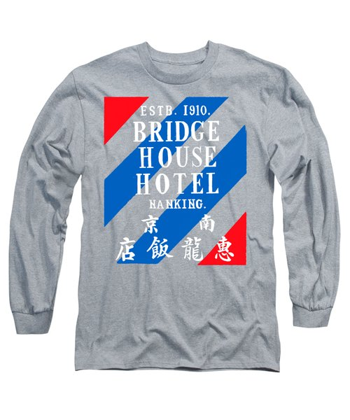 Long Sleeve T-Shirt featuring the painting 1920 Bridge House Hotel Nanking China by Historic Image