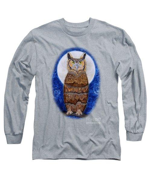 Paisley Moon Long Sleeve T-Shirt by Deborha Kerr
