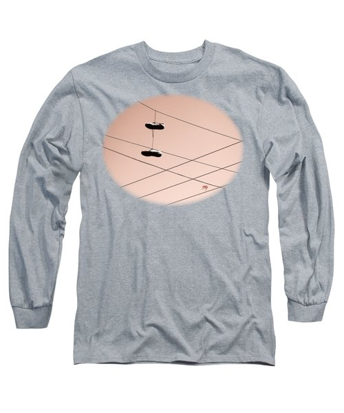 Shoes On A Wire Long Sleeve T-Shirt by Linda Hollis
