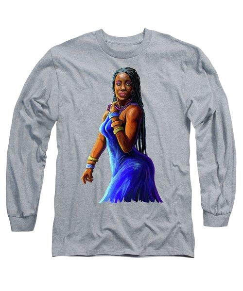 African Woman Long Sleeve T-Shirt
