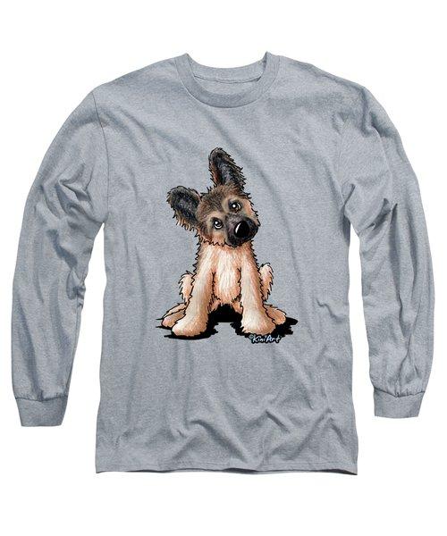 Curious Shepherd Puppy Long Sleeve T-Shirt
