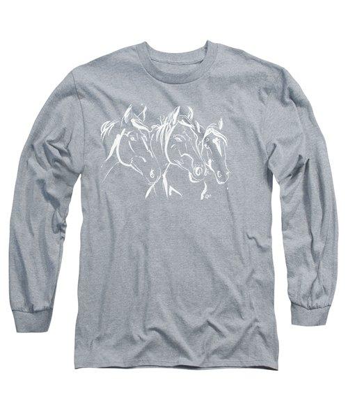 Horses Friends Long Sleeve T-Shirt