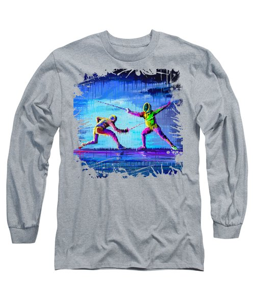 Sword Sparring Painting Long Sleeve T-Shirt