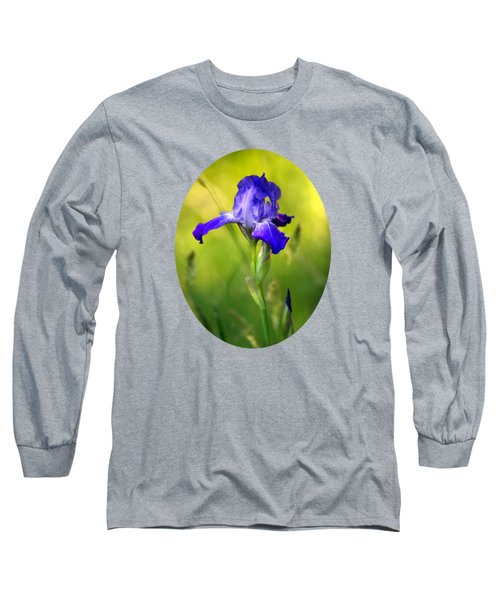 Violet Iris Long Sleeve T-Shirt by Christina Rollo