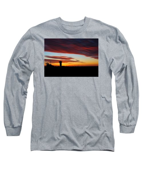 Sunrise Over Golden Spike Tower Long Sleeve T-Shirt by Bill Kesler