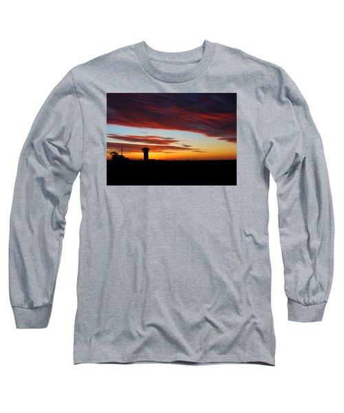 Sunrise Over Golden Spike Tower Long Sleeve T-Shirt