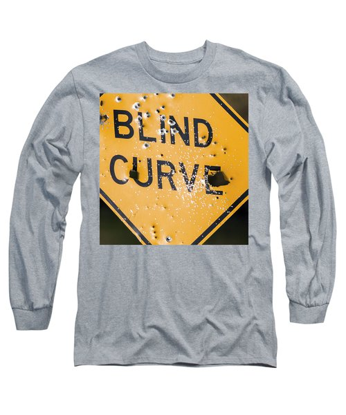 Blind Curve Long Sleeve T-Shirt by Bill Kesler