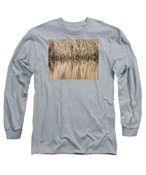Golden Reed Reflection Long Sleeve T-Shirt by Bill Kesler