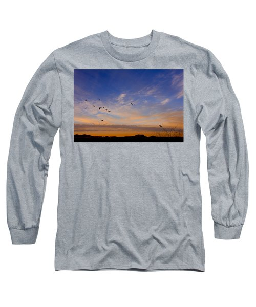 Long Sleeve T-Shirt featuring the photograph As Night Falls by Barbara Manis