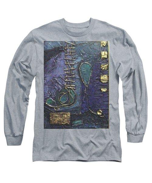 Long Sleeve T-Shirt featuring the painting Ascending Blue by Bernard Goodman