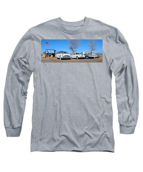 Ash Fork Vintage Cars Along Historic Route 66 Long Sleeve T-Shirt