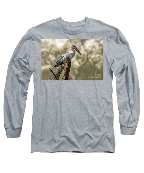 Asian Openbill Long Sleeve T-Shirt