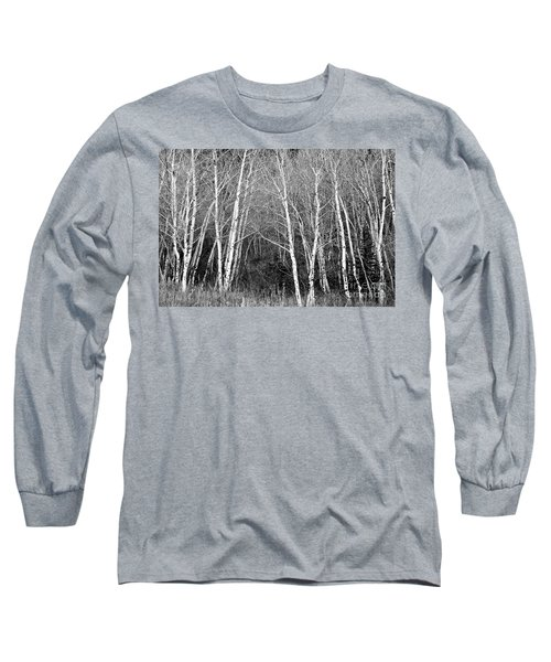 Aspen Forest Black And White Print Long Sleeve T-Shirt