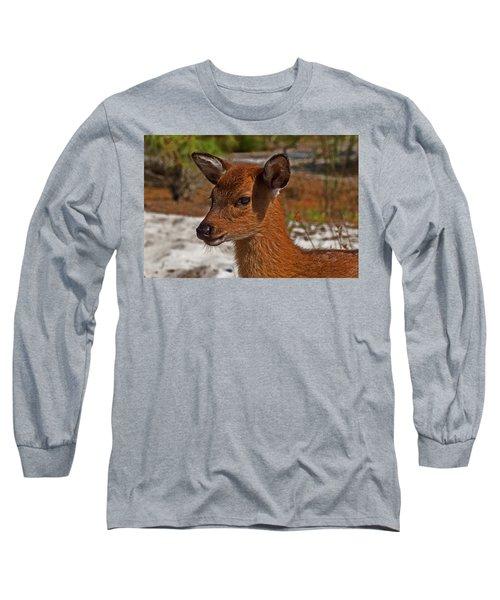 Assateague Island Sika Deer Fawn Long Sleeve T-Shirt