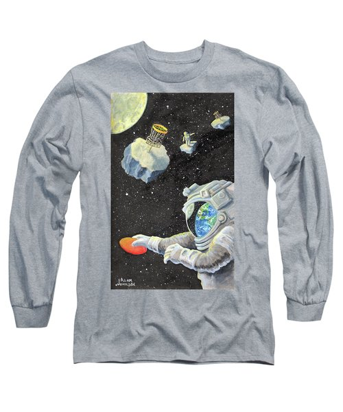 Astronaut Disc Golf Long Sleeve T-Shirt