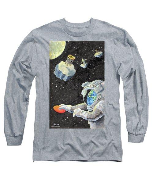 Astronaut Disc Golf Long Sleeve T-Shirt