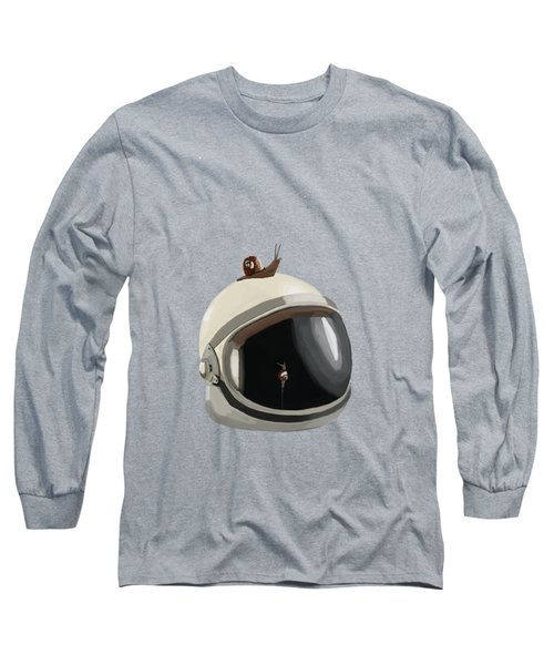 Astronaut's Helmet Long Sleeve T-Shirt by Keshava Shukla