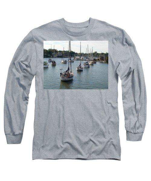 At Anchor Long Sleeve T-Shirt by Charles Kraus
