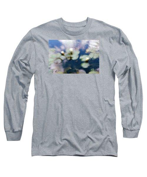 Long Sleeve T-Shirt featuring the photograph At Claude Monet's Water Garden 4 by Dubi Roman