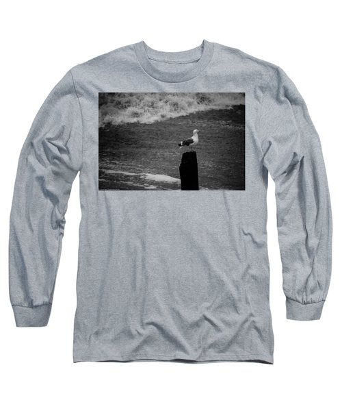 Long Sleeve T-Shirt featuring the photograph At His Post by Lora Lee Chapman