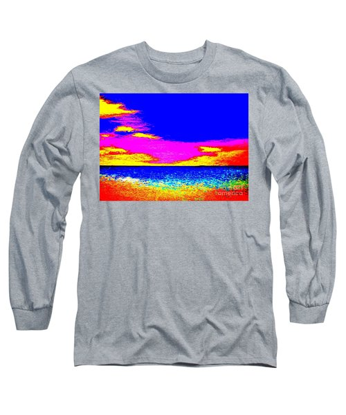 At The Beach Long Sleeve T-Shirt by Tim Townsend