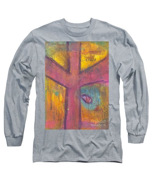 At The Cross Long Sleeve T-Shirt by Angela L Walker