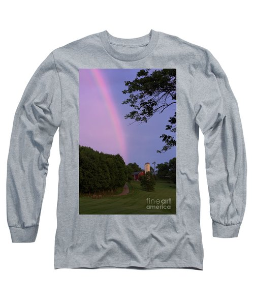 At The End Of The Rainbow Long Sleeve T-Shirt by Nicki McManus