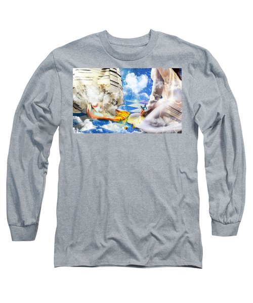 Long Sleeve T-Shirt featuring the digital art At The Feet Of Jesus by Dolores Develde