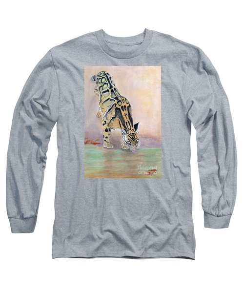 At The Waterhole - Painting Long Sleeve T-Shirt by Veronica Rickard
