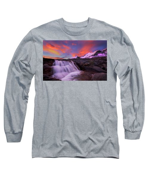 Athabasca On Fire Long Sleeve T-Shirt by Dan Jurak