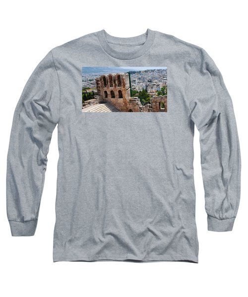 Long Sleeve T-Shirt featuring the photograph Athens From Acropolis II by Robert Moss