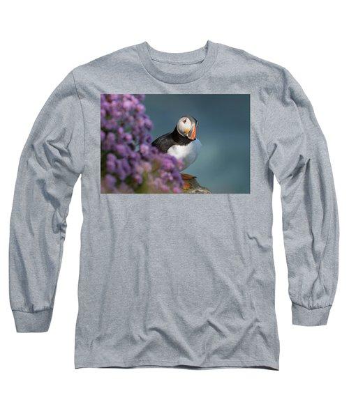 Atlantic Puffin - Scottish Highlands Long Sleeve T-Shirt