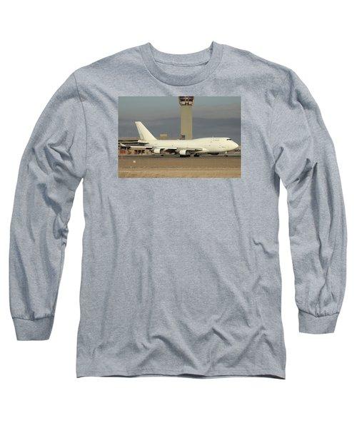 Atlas Air Boeing 747-45e-sf N473mc Phoenix Sky Harbor December 20 2015  Long Sleeve T-Shirt by Brian Lockett