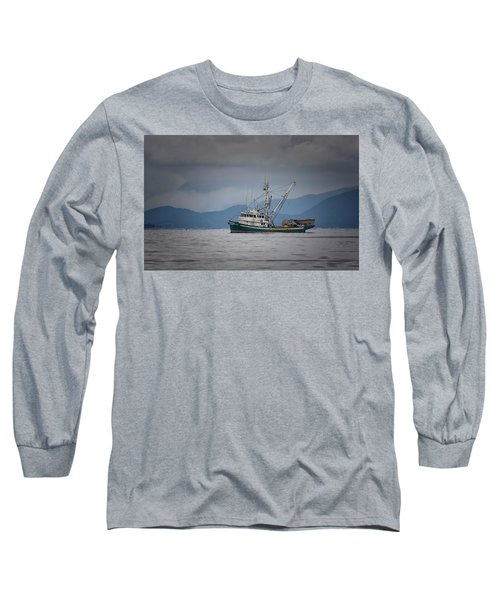 Long Sleeve T-Shirt featuring the photograph Attu Off Madrona by Randy Hall