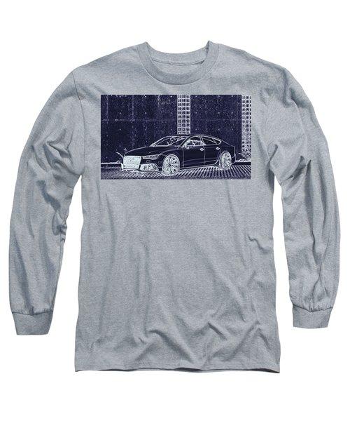 Audi Rs7 Vossen  Long Sleeve T-Shirt by PixBreak Art