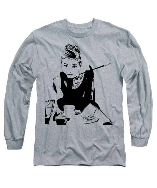 Audrey Hepburn Long Sleeve T-Shirt by Ryan Burton